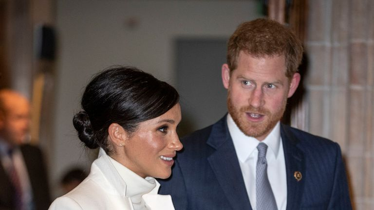 Meghan and Harry attended a gala performance of The Wider Earth in London on 12 February