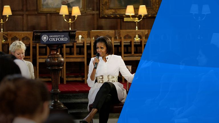 Michelle Obama spoke at Christ Church in 2011 during her husband's presidential visit to the UK