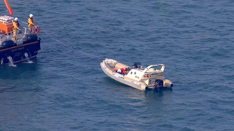 Up to 19 migrants are understood to have been rescued from a boat off the port of Dover