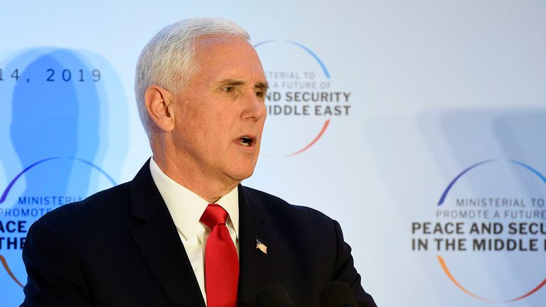 Mr Pence said some nations had 'led the effort to create mechanisms to break up our sanctions'