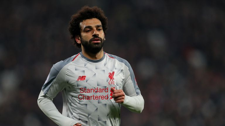 Mo Salah during the Premier League match between West Ham United and Liverpool FC