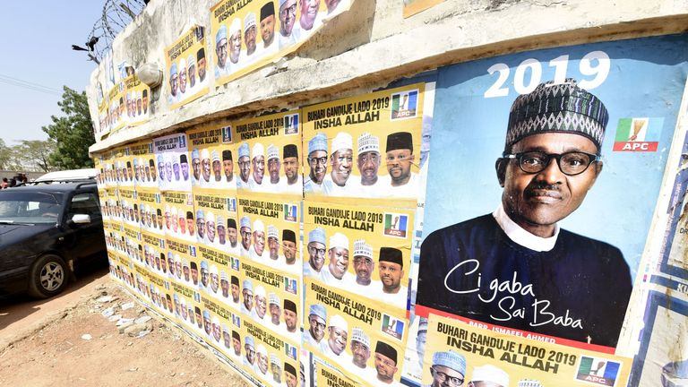 Nigerian President Mohammadu Buhari is bidding to hold on to power
