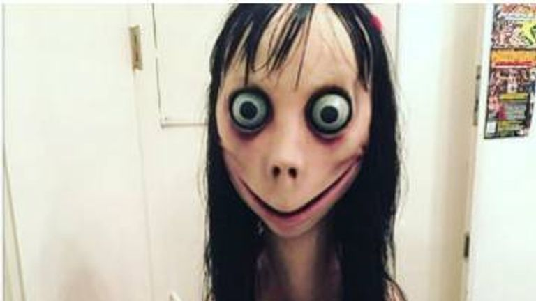 The 'Momo challenge' involves a ghoulish figure