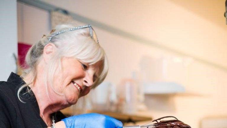 Meagan Boyle making the Mummy Meagz's vegan cream eggs