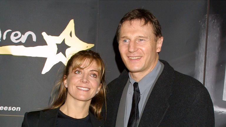 Neeson with late wife Natasha Richardson in 2001