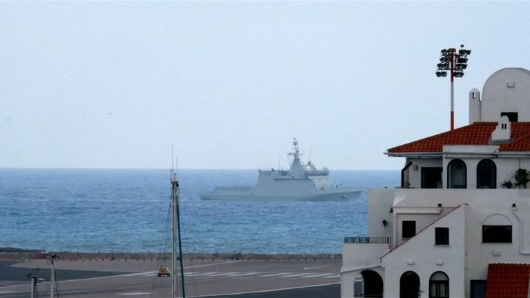 A Spanish warship tried to order commercial shipping to leave British waters near Gibraltar but was challenged by the British navy