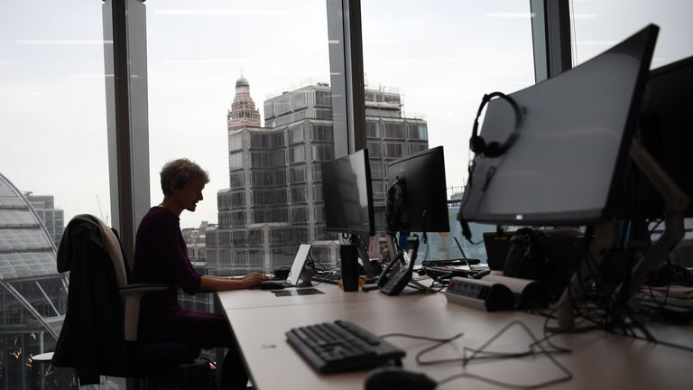 LONDON, ENGLAND - FEBRUARY 14: A member of staff poses for a photograph at a workspace in the National Cyber Security Centre on February 14, 2017 in London, England. The National Cyber Security Centre (NCSC) is designed to improve Britain's fight against cyber attacks and act as an operational nerve centre. (Photo by Carl Court/Getty Images)