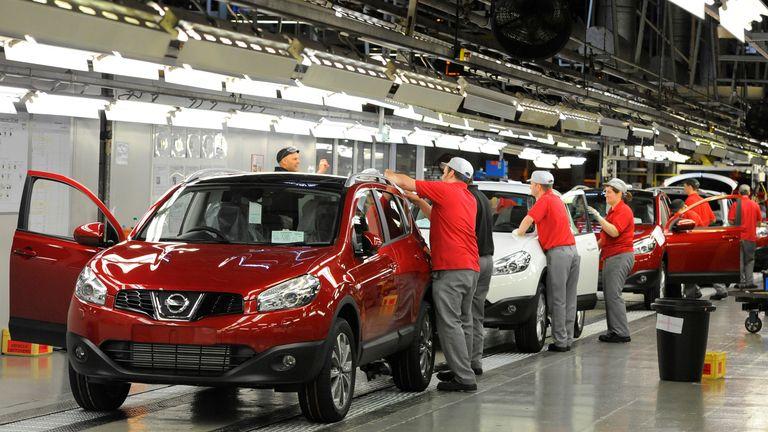 The Nissan car plant in Sunderland