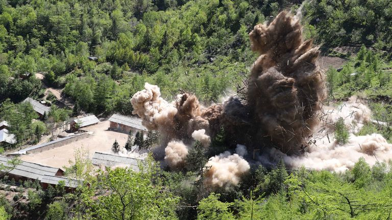 North Korea says it has dismantled its nuclear testing facility at Punggye-ri