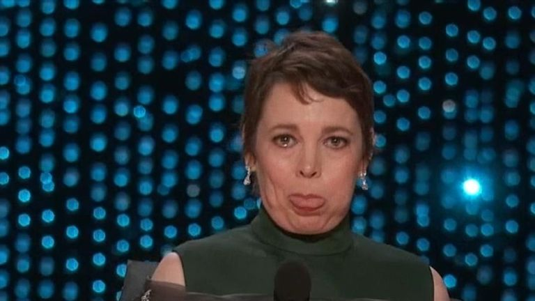 Olivia Colman at The Oscars 2019