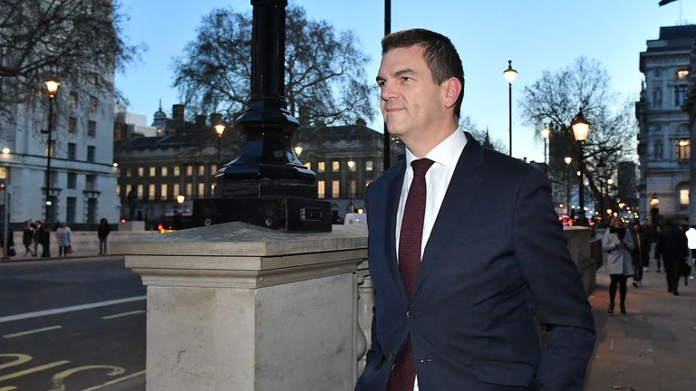 Prime Minister's Europe Adviser Olly Robbins on Whitehall in Westminster, London.