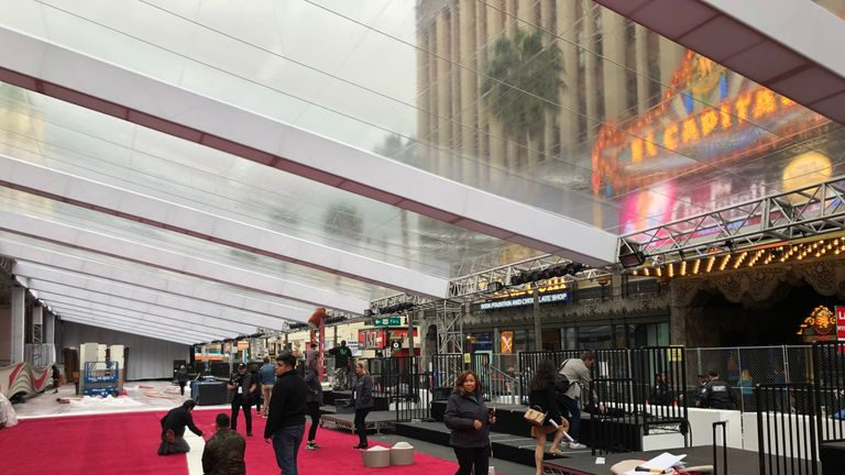 Behind the scenes as Hollywood rolls out the red carpet in preparation for the 2019 Oscars