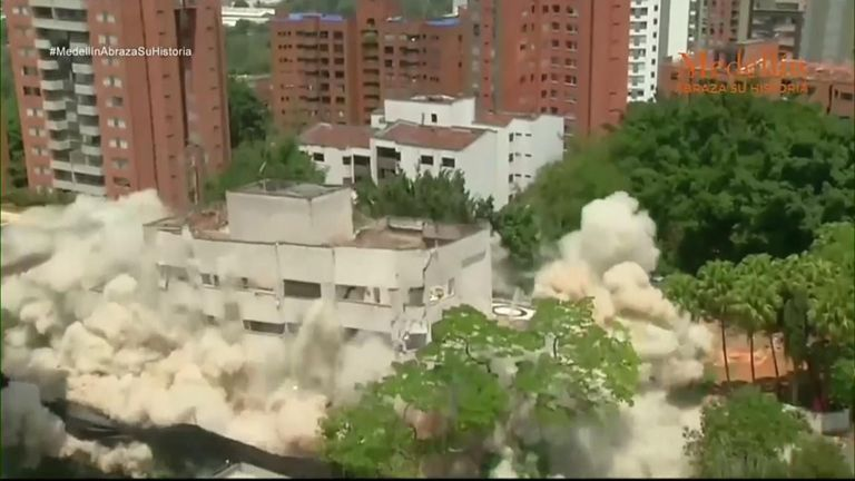 Escobar home demolished in city's 'rebirth'