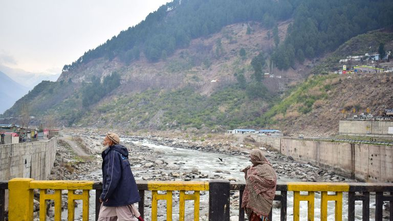 Pakistani residents in the mountainous area of Balakot where India launched its raid