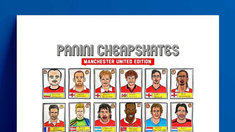 The Manchester United stickers have been removed from sale. Pic: @CheapPanini
