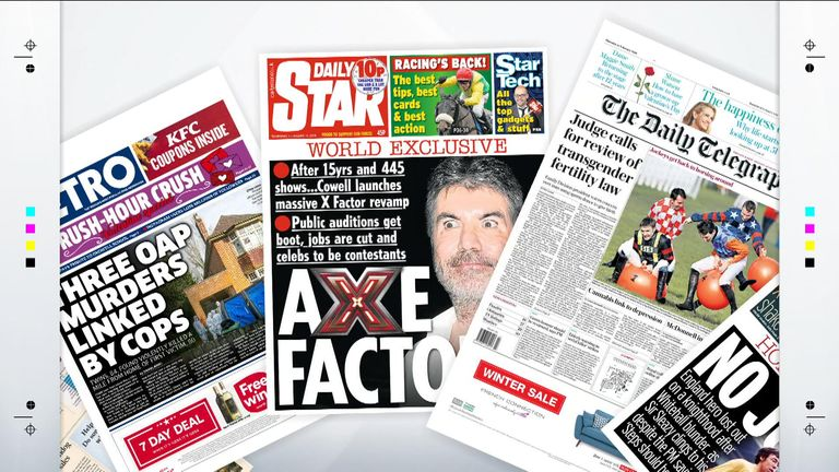 A selection of Thursday's newspapers