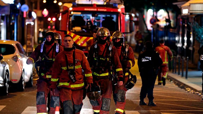 About 200 firefighters fought the blaze