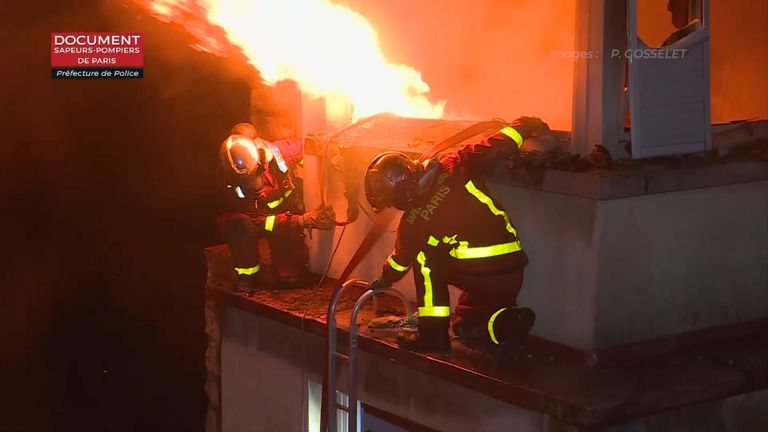 One person has been seriously injured, while 27 others - including three firefighters - have suffered minor injuries.