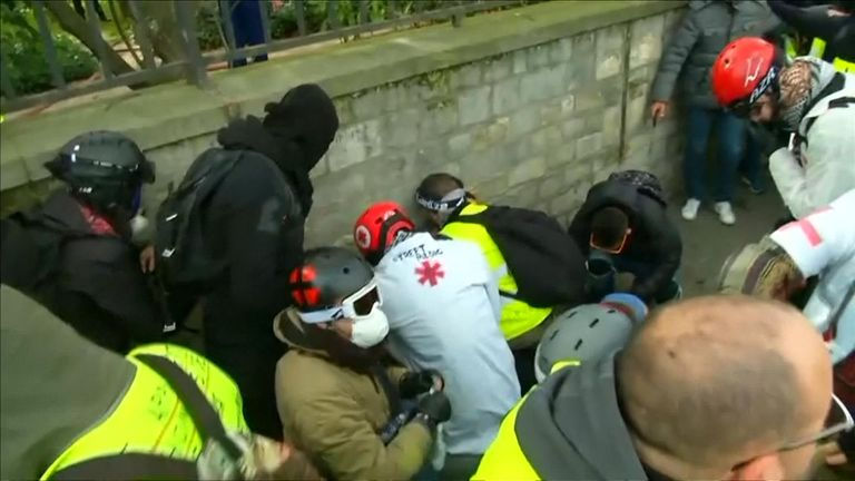 Man's hand blown off in violent yellow vest protests