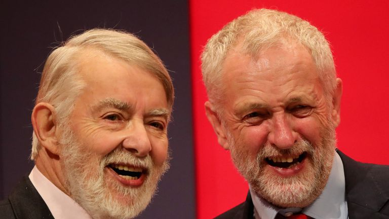 Jeremy Corbyn, right, has described Mr Flynn as a 'good friend'