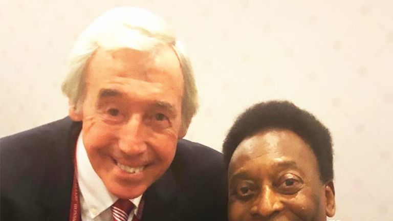 Pele shared this picture of his friend Gordon Banks