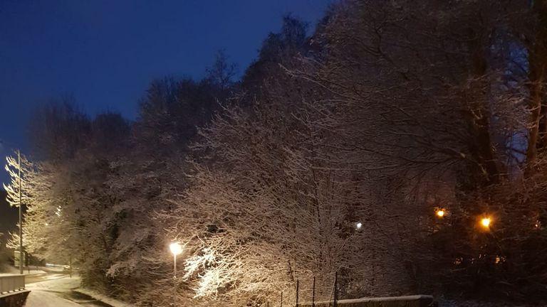 Snow in Pentwyn, Cardiff