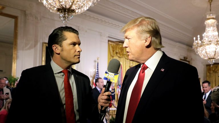 Hegseth hosts Fox And Friends, one of Donald Trump's favourite shows