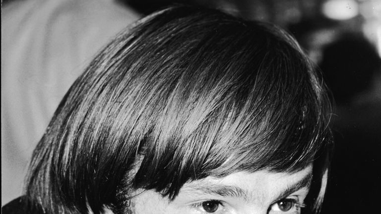 Peter Tork, pictured in 1967, was a founding member of The Monkees