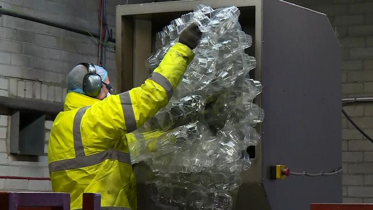 Inspired by the Sky Ocean Rescue campaign, the firm in Cambridgeshire collects plastics - and recycles them before making them available again locally.  It's believed to be the first localised `circular` economy of its type in the country.  Charlotte Lomas reports
