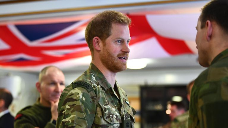Harry was there to celebrate the 50th anniversary of Exercise Clockwork