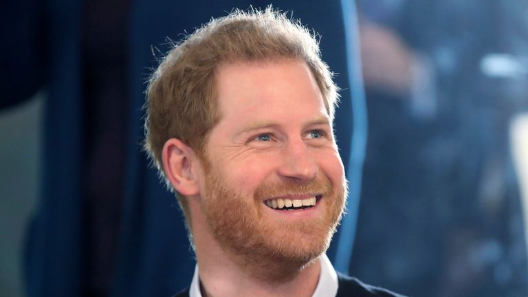 Prince Harry was in a good mood as he visited Streatham Youth and Community Trust