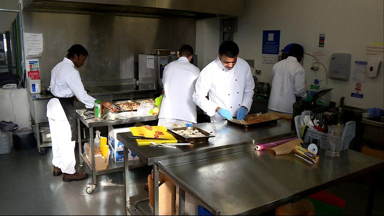 Prisoners at HMS Isis can learn cooking skills