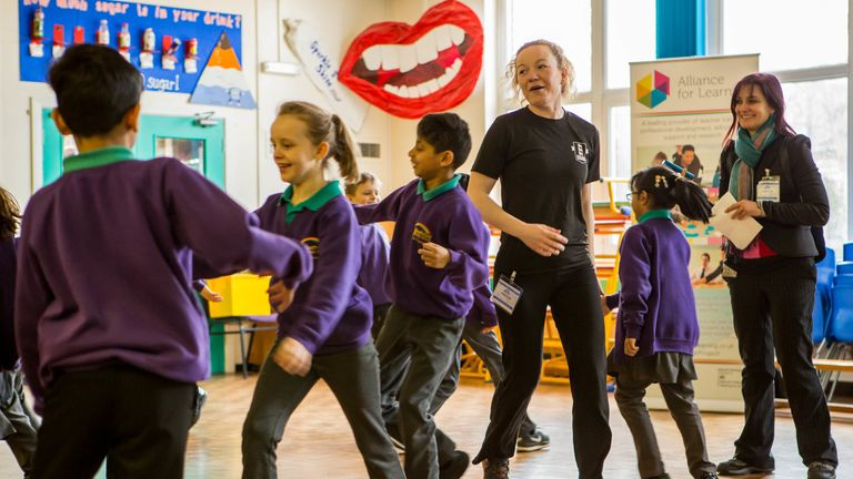 Rachel works with schools to help promote exercise and mental wellbeing