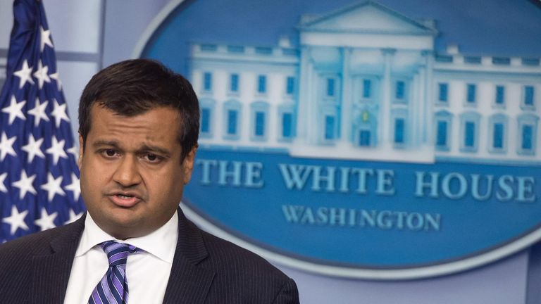 Raj Shah told Sky News what it was like working as Donald Trump's deputy press secretary