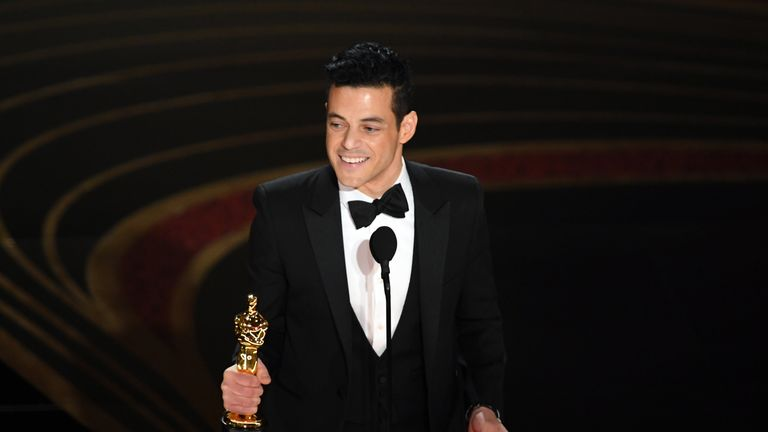 Rami Malek wins best actor at the Oscars for Bohemian Rhapsody