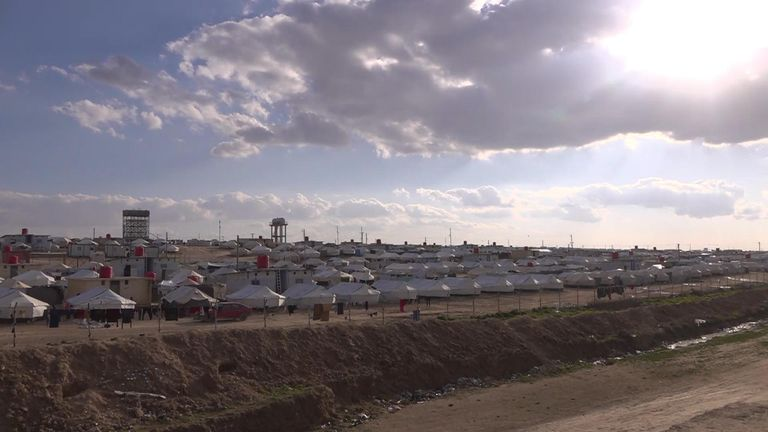 Refugee camp in Syria
