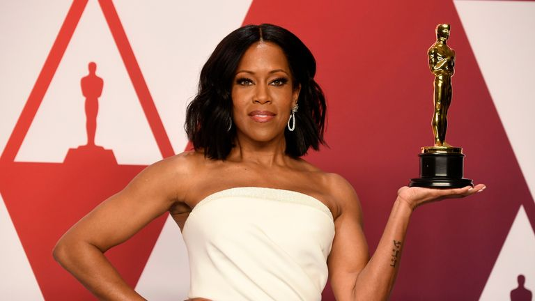 Regina King wins best supporting actress Oscar for If Beale Street Could Talk