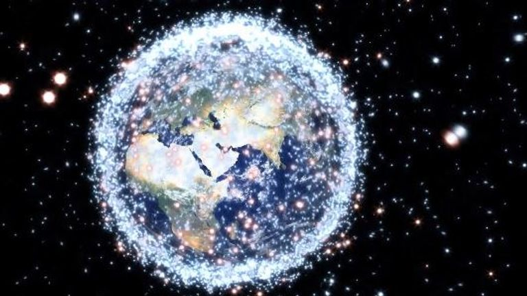 Between 16,000 and 20,000 pieces of junk have been tracked orbiting the Earth.