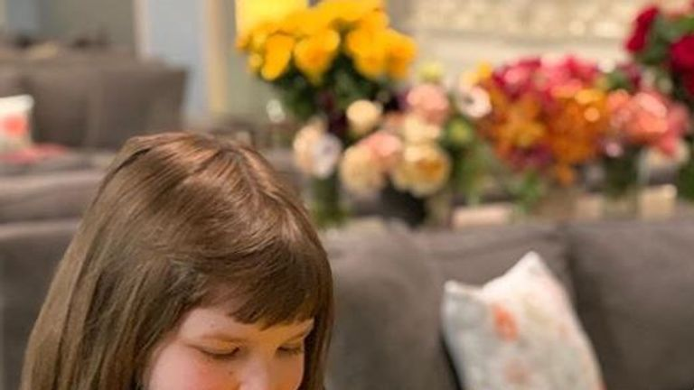A little girl at Ronald McDonald House in New York received a yellow floral arrangement from the royal baby shower. Pic: Instagram/Repeat Roses