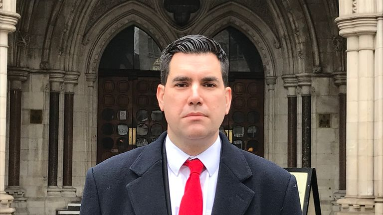 Shadow justice secretary Richard Burgon outside the Royal Courts of Justice, central London after he won �30,000 in libel damages in a High Court action against The Sun over claims that a heavy metal band he performed with used Nazi imagery.