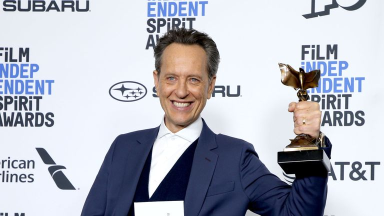 Richard E Grant took home the Independent Spirit award for best supporting actor