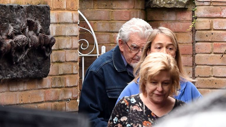 Rolf Harris outside his home in Bray, Maidenhead