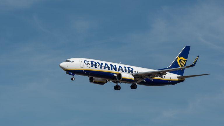 Ryanair flight from Gatwick to Malaga diverted after 'fist fight in aisle'