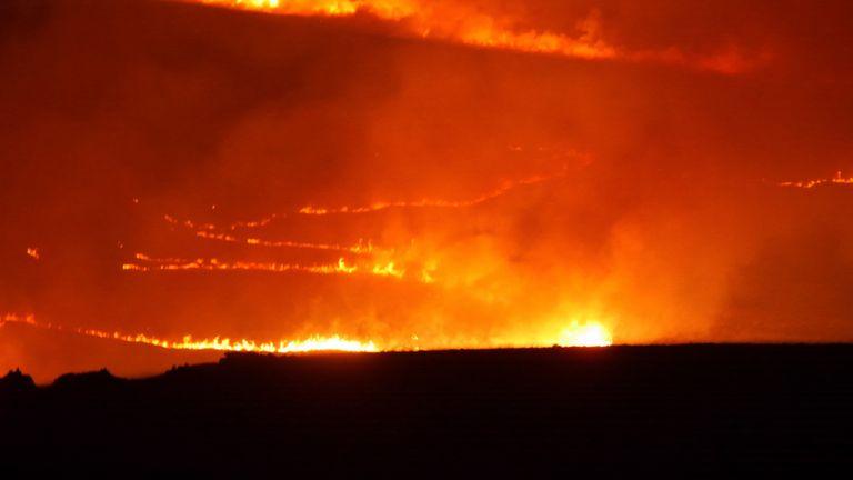 Saddleworth Moor fire. Pic: John Turner