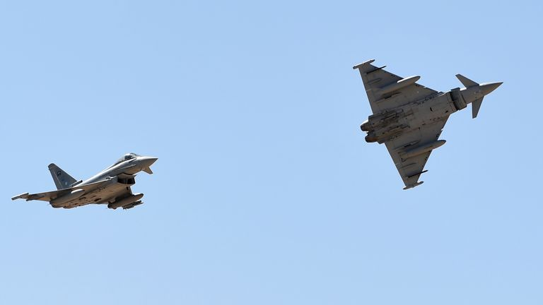 Saudi Air Force Eurofighter Typhoon fighter jets