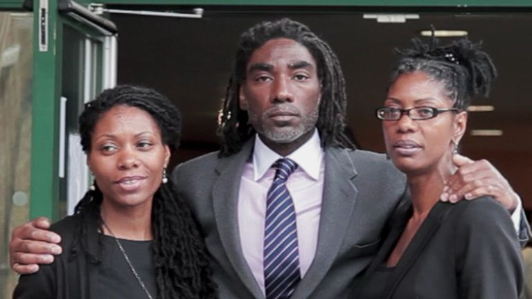 The brother and sisters of Sean Rigg during the inquest into his death in 2012