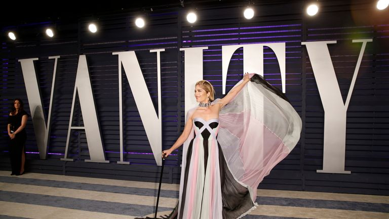 Selma Blair attends the 2019 Vanity Fair Oscars party
