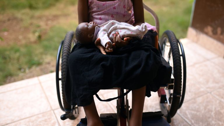 This five-year-old girl was left paralysed from the waist down after her uncle raped her