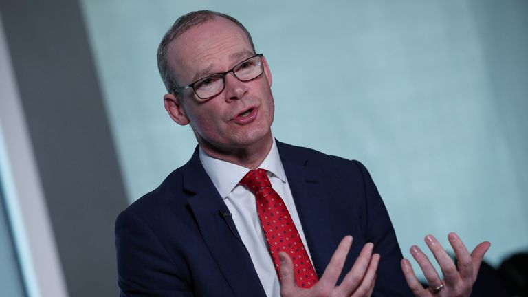 Ireland's Minister for Foreign Affairs Simon Coveney speaks to Reuters during an interview in Dublin