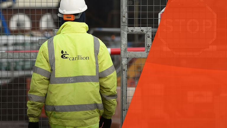 Carillion fell into crisis in January 2018